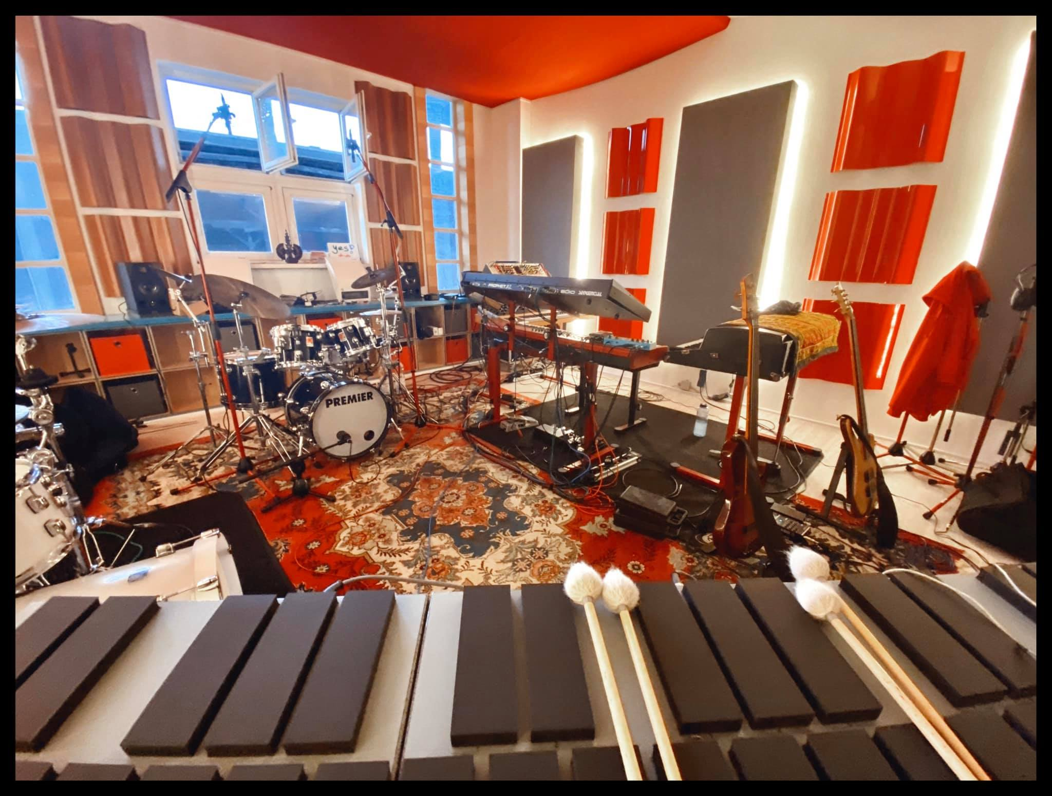 "The LAB setup for recording ""Hello & Goodbye"""